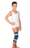 Бандаж на коленный сустав с пружинными ребрами жесткости (детский)