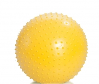Мяч гимнастический игольчатый (желтый, 55 см)