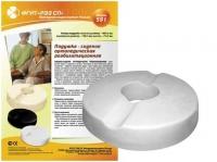 Подушка-сидение ортопедическая круглая с отверстием в центре (37x37 см)